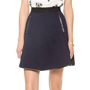 Madewell Luna Quilted Skater Skirt